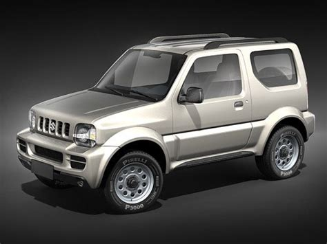 suzuki jeep 2012 suzuki jimny jeep 3d model