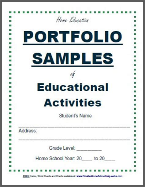 portfolio cover template flvs home education guide