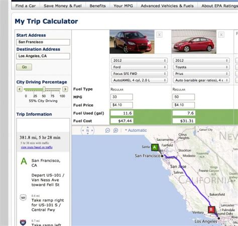 epa s planning a trip epa s fuel calculator predicts your gas bill
