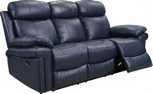 Navy Blue Reclining Sofa Shae Joplin Blue Leather Power Reclining Sofa 1555 E2117