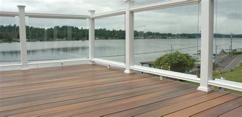 plexiglass railing fiberon horizon white with plexiglass panels vinyl deck