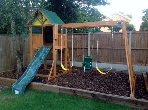 climbing frame and swing set burghley climbing frame slide and swing set
