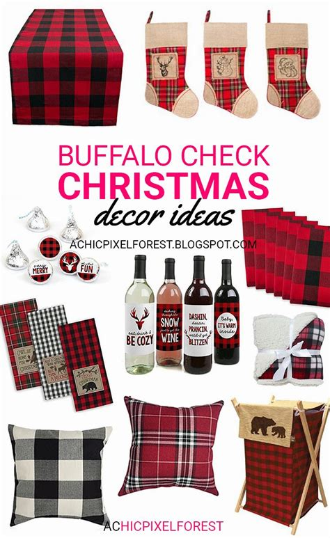 10 affordable buffalo plaid christmas decor on a budget buffalo check christmas decor ideas xmas pinterest