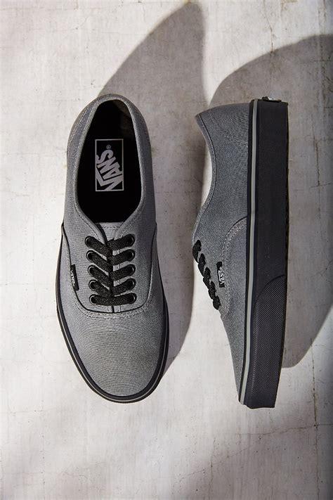 Vans Authentic Pria Grey vans authentic black sole sneaker in gray lyst