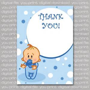 baby boy baby shower thank you cards printable digital file digitalbazaar cards on artfire
