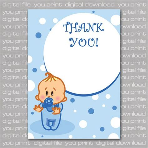 Baby Shower Thank You Cards by 8 Best Images Of Printable For Boy Baby Shower Card Free