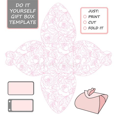 Wedding Box Template by Favor Gift Box Die Cut Box Template With Pattern