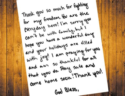 examples of thank you letters to soldiers you think the army and