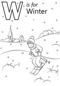 W Is For Worm Coloring Page by W Is For Winter Coloring Page Free Printable Coloring Pages
