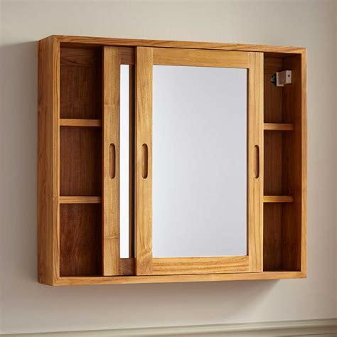 teak medicine cabinet signature hardware 32 quot wulan teak medicine cabinet with