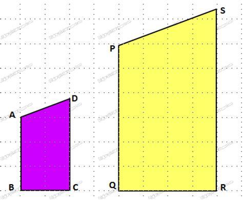 perhatikan dua gambar berikut dua bangun datar yang sebangun blajar pintar