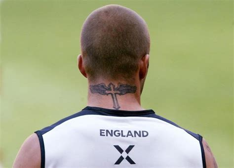 david beckham neck tattoo design david beckham at 40 a up of his many tattoos bt