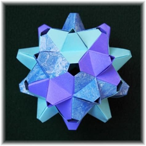 Origami Polyhedron - origami polyhedron unit 171 embroidery origami