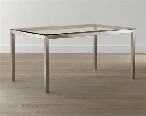 20 Sleek Stainless Steel Dining Tables Stainless Steel Dining Room Table
