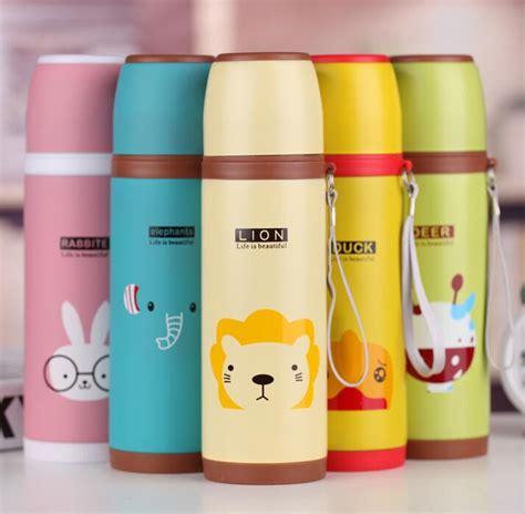 Thermos Stainless Animal 500ml Tahan Panas 350 500ml stainless steel ᐊ thermos thermos vacuum thermocup garrafa termica coffee mug