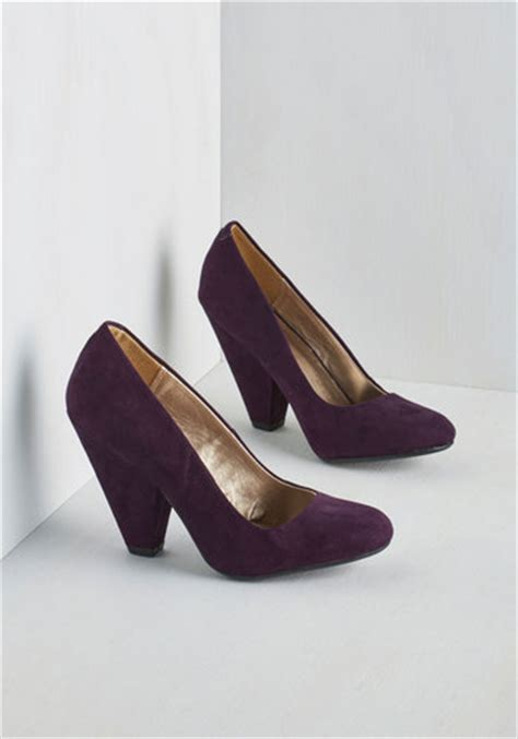 eggplant high heels everyday energy heel in eggplant mod retro vintage heels