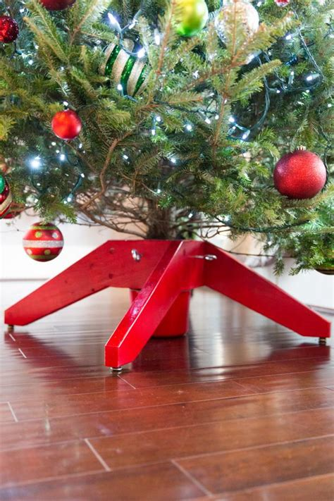 build  christmas tree stand  tos diy