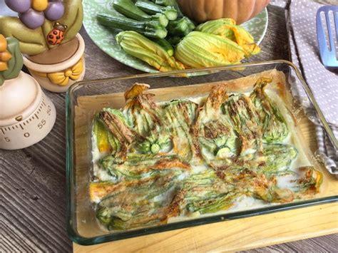 fiori di zucca ricette al forno fiori di zucca ripieni al forno ricetta facile e veloce
