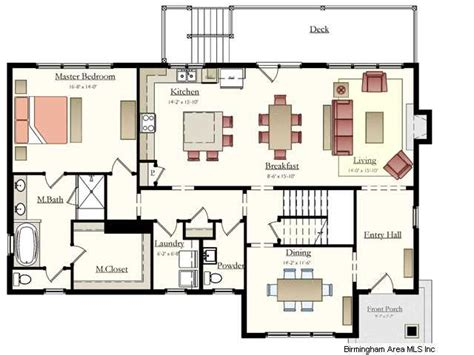 Kitchen Dining Room Floor Plans If You Like To Entertain This Is The Plan For You Open Living Kitchen Area And A Formal