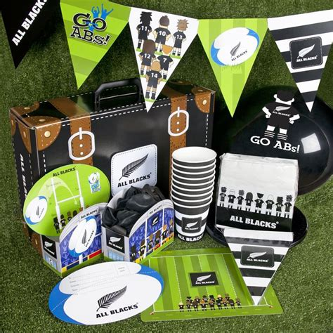 birthday themes nz here s some of our all blacks rugby themed party supplies