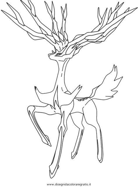pages xerneas xerneas colouring pages