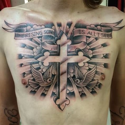 tattoo cross and clouds 35 cloud tattoos on chest