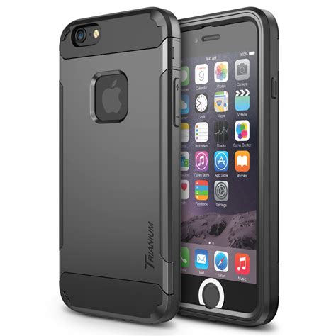 trianium duranium series for iphone 6s 6 gunmetal gray newer version