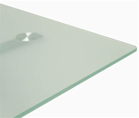 6 frosted glass conference table