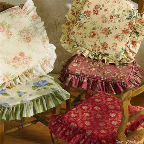ruffled kitchen chair cushions ruffled chair pads w ties