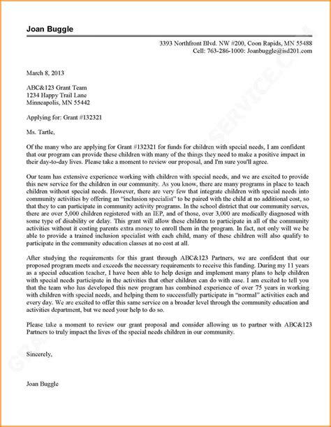 cover letter for grant application 5 cover letter sle tv program