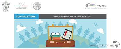 becas particulares de la sep ciclo 2016 2017 beca de movilidad internacional 2016 2017 sep