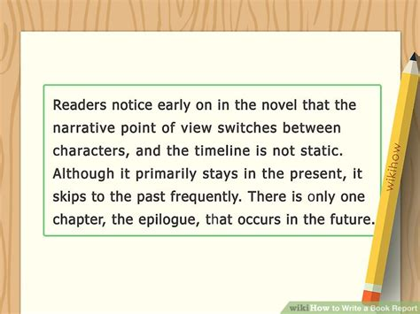 How Write A Book Report by How To Write A Book Report With Sle Reports Wikihow