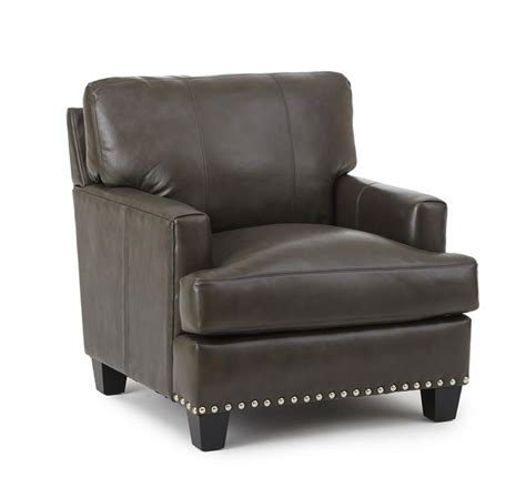 Gray Leather Chair And Ottoman Patrese Gray Leather Chair And Ottoman