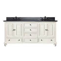 buy avanity thompson 73 inch dual vanity with granite top