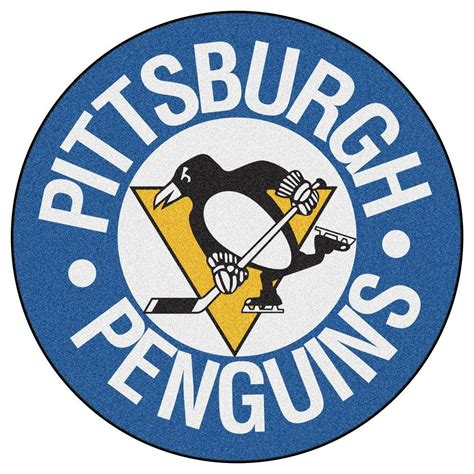pittsburgh penguins rug fanmats pittsburgh penguins blue 2 ft 3 in x 2 ft 3 in accent rug 11052 the home depot
