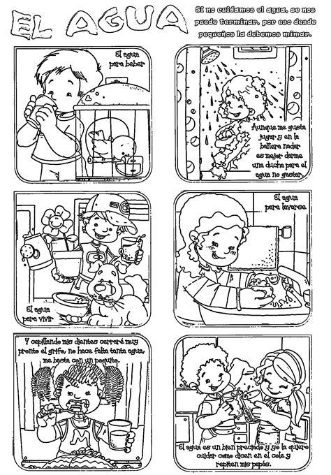 imagenes para colorear sobre el cuidado del medio ambiente actividades sobre el cuidado del agua para primaria