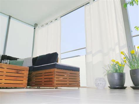 Balkon Vorhang Sonnenschutz outdoor vorhang santorini fertigvorhang weiss