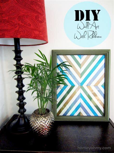diy wall art with ribbon homey oh my