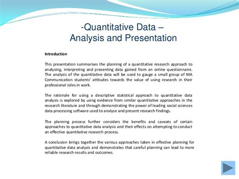 presentation and analysis of data in research paper quantitative data gathering and analysis