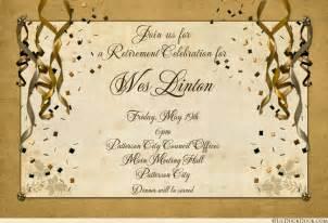 festive retirement celebration card invitation joyful