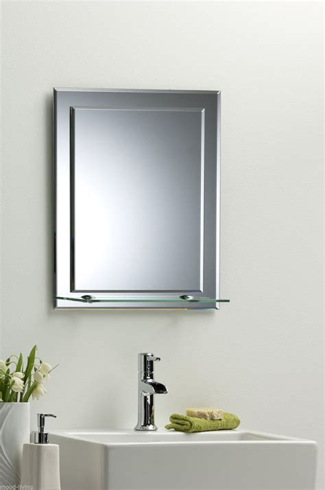 bathroom mirror with shelf attached bathroom mirror on mirror elegant rectangular with shelf