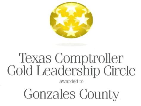 Gonzales County Tax Office by Comptroller Gold Leadership Circle