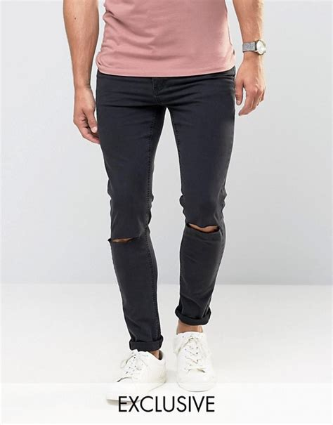 Cheap Monday Black Rips Knee Only cheap monday cheap monday tight fit