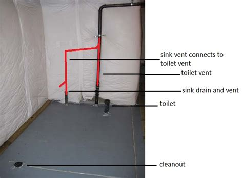 roughed in basement bathroom plumbing basement plumbing rough in