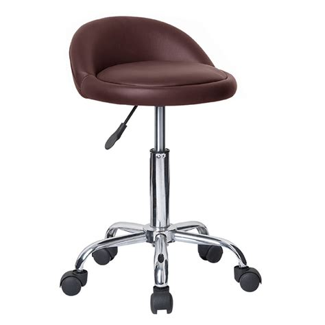 Adjustable Bar Stool On Wheels | rolling adjustable swivel stool bar table chair w wheels massage tattoo juno ebay