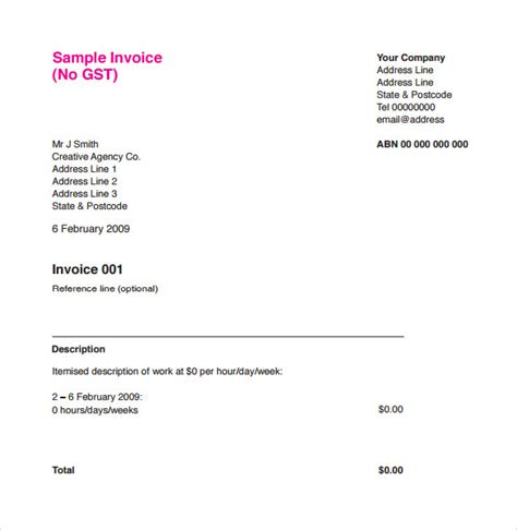 gallery of cool invoice template example line in graphic design