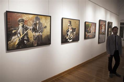Richards On Display by Ronnie Wood Exhibition Rolling Stones Guitarist