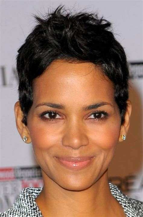 haircut for round face black hair short hairstyles for black women with round faces