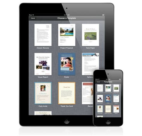 create templates for pages ipad pages app apple ipad ios apps create edit