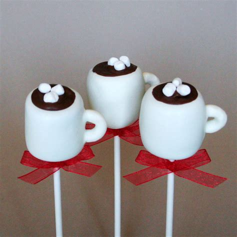12 Hot Chocolate or Coffee Mug Cake Pops for by SweetWhimsyShop